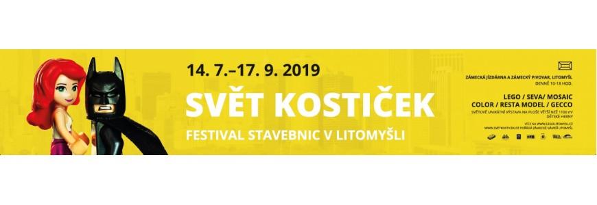 Oslavte páté narozeniny projektu Svět kostiček na festivalu stavebnic v Litomyšli (14. 07. - 17. 09. 2019)