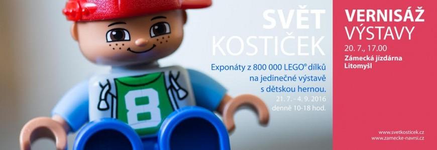 Výstava Světa kostiček - Litomyšl, Zámecká jízdárna (21. 7. 2016 - 4. 9. 2016)