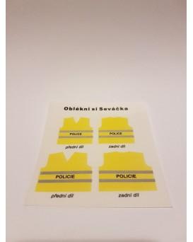 NÁLEPKA OBLÉKNI SI SEVÁČKA - policie