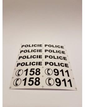 NÁLEPKY RESCUE 3 - POLICIE