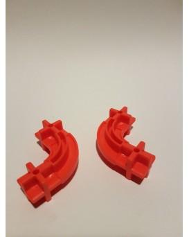 Konstrukční dílek oblouk 24 - barva signální červená