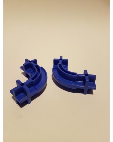 Konstrukční dílek oblouk 24 - barva modrá