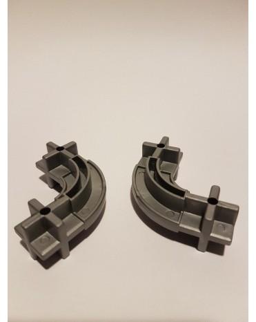 Konstrukční dílek oblouk 24 - barva šedá