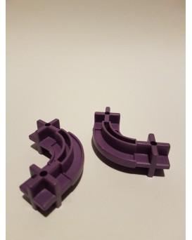 Konstrukční dílek oblouk 24 - barva fialová