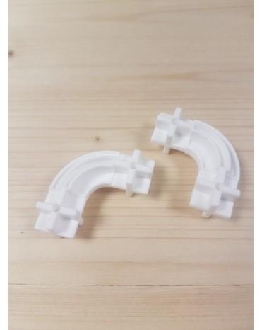 Konstrukční dílek oblouk 24 - barva bílá