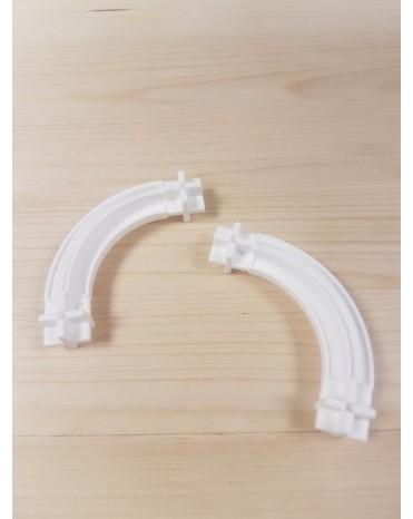 Konstrukční díl oblouk 43 - barva bílá